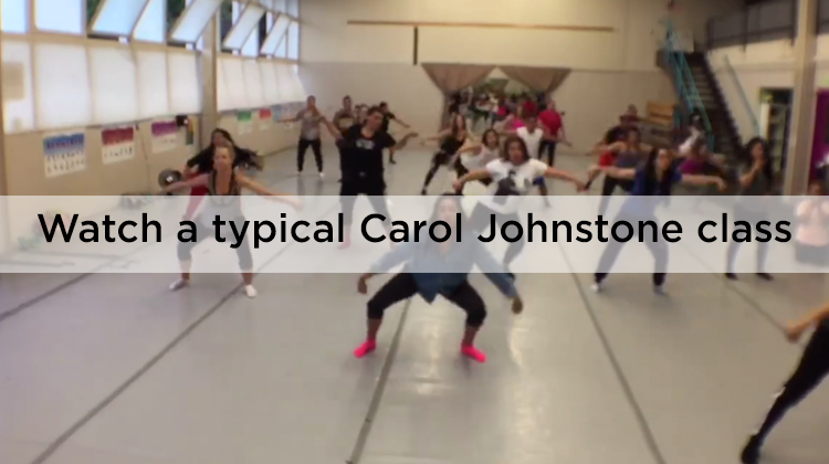 Watch a typical Carol Johnstone class